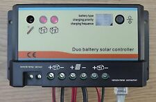 10a 10 amp DUAL BATTERY SOLAR CHARGE CONTROLLER REGULATOR MOTORHOME CAMPER t4 t5