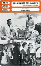 Movie Card Fiche Cinéma Les amants passionnés / The Passionate Friends (GB) 1949