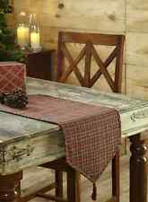 """TARTAN CHRISTMAS HOLIDAY TABLE RUNNER 13X36"""" GREEN AND RED PLAID COTTON"""