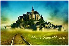 Refrigerator fridge magnet LE MONT SAINT-MICHEL FRANCE vinyl photo  educational