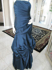 Impressions Bridal Midnight Blue long formal wedding bridesmaid dress NWOT 10