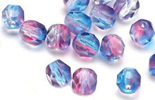 10 Sassafras Firepolished Glass Faceted Round Beads 8MM