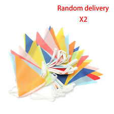 2Pcs 10 Meter Banner Bunting Pennant Flags Party Wedding Rainbow Decor Flag