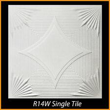 Ceiling Tiles Glue Up Styrofoam 20x20 R14 White Lot of 8