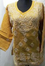 Elegance chikan embroidery   coton  kurta/top size 44