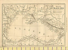 c1885 MAP ~ BLACK SEA ~ RUSSIA TURKEY IN ASIA BULGARIA CRIMEA