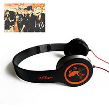 Japan Anime Haikyuu Black Headphone Headset Earphone Logo Sign Emblem New in Box