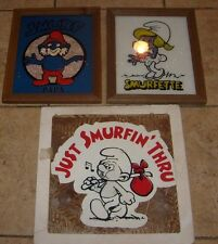 3 RARE SMURF VINTAGE PICTURES
