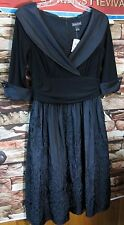 NWT Vintage Style Jessica Howard Black Adrianna Papell Cocktail Dress