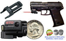 ArmaLaser GTO RED Laser Sight w/ GG&G Rail Adapter for H&K USP Compact Pistols