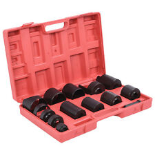 Auto Red 14Pcs Master Ball Joint Remover Installer Adaptors Kit Receiving Tube
