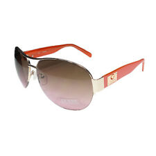 Guess GUF 215 GLD-52 Women's Gold Pink Frame Aviator Sunglasses