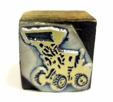 LETTERPRESS TRACTOR ADVERTISING METAL ON WOOD