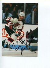 Bobby Carpenter New Jersey Devils NY New York Rangers Signed Autograph Photo