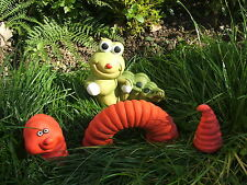 3 PIECE WORM AND A CATERPILLAR SET. LATEX MOULD/MOULDS/MOLDS