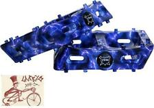"FBM NICE PC LIGHTENING WRAP 9/16"" 3-PIECE CRANK BMX BICYCLE PEDALS"