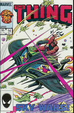 "MARVEL THE THING COMIC BOOK VOLUME 1 ISSUE 14 AUGUST 1984 ""SKY WARS!"" STAN LEE"