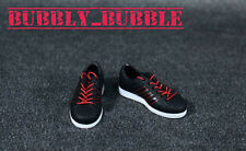 "1/6 Shoes Adidas Style Men Sneakers Black For 12"" Hot Toys Figure SHIP FROM USA"