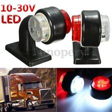 PAIR 12V 24V 12 LED SIDE MARKER OUTLINE LIGHTS LAMP FOR TRAILER TRUCK VAN LORRY