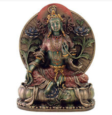 "8.25"" Green Tara Statue Buddhism Sculpture Eastern Deity Decor Tibetan Buddhist"