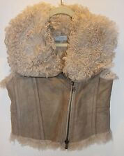 Strenesse Blue Lamb Sheepskin Fur Women Vest Size 6