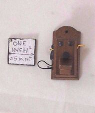"1920s Wall Phone miniature Telephone  wooden 1-12"" scale IM66100 dollhouse"