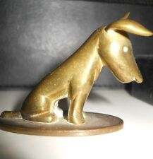 art deco hagenauer small scooty terrier DOG brass or bronze signed WHW Austria