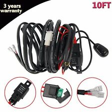 12V 40A 10FT Wiring Harness Kit For LED Work Fog Light Bar ON/OFF Switch Relay