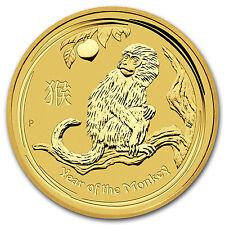 2016 1/10 oz Gold Lunar Year of the Monkey BU SKU #92754