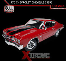"AUTOWORLD AMM1021 1:18 1970 CHEVROLET CHEVELLE SS 396 CRANBERRY RED ""TOP GEAR"""