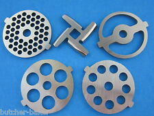 5 pc SET Meat Grinder plates & knife for new FGA KitchenAid Mixer Food Chopper