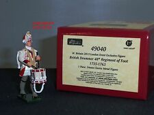 BRITAINS 49040 REDCOATS BRITISH DRUMMER 48TH REGIMENT OF FOOT 1755 TOY SOLDIER