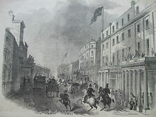 ANTIQUE PRINT DATED 1846 THE ILLUSTRATED LONDON NEWS BATH STREET NEW POST OFFICE