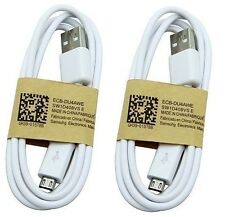 Pack If 2 Original Micro USB Charger Data Cables for Samsung Galaxy S4 S3 Note 2