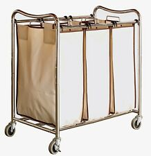 Hamper Laundry Sorter Cart 3 Bag Clothes Organizer Rolling Bin Basket Heavy Duty
