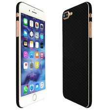 Skinomi Black Carbon Fiber Skin+Clear Screen Protector For Apple iPhone 7 Plus