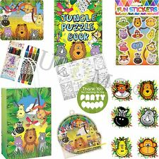Kids Ready Made Jungle Paper Party Bags Boys Girls Filled Bags