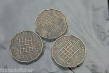THREE THREE PENCE PIECES TWO DATES