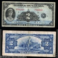 Bank of Canada 1935 $2 FRENCH  Banque Du Canada