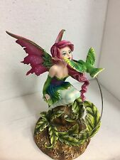 Amy Brown Magenta Fairy Faery Kissing Hummingbird Collection Statue Figurine