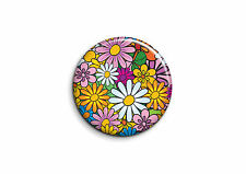 Peace and Love - Fleurs 1 - Badge 56mm Button Pin