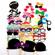 58X Photo Booth Props Moustache on A Stick Weddings  Christmas Birthday Party