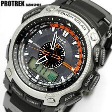 Reloj Casio Pro Trek Triple Sensor PRW-5000. Relojes de pulsera negra.