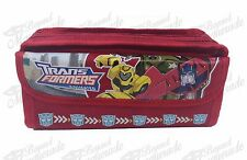 Transformers Zippered Pencil Pouch Teen Boys Pencil Pen Case - Red