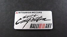RALLIART MITSUBISHI alluminio badge COLT EVOLUTION L200 Turbo