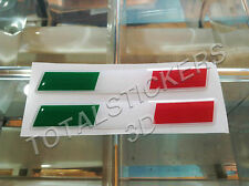 KIT 2 STICKERS ADESIVI 3D BANDIERA/FLAG TRICOLORE ITALIA/ITALY 10X1,5 CM  IT-033