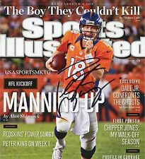 Broncos Peyton Manning Signed 8x10 Sports Illustrated Photo Autographed RP