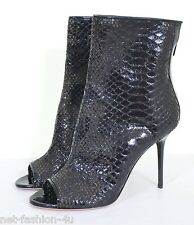 JIMMY CHOO FOLLOW PEP TOES SNAKE BOOTIES BOOTS SHOES UK 6 US 9 IT 39 BNWT BOX