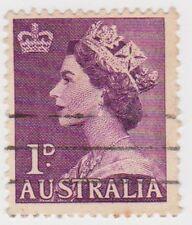 (AUZ140) 1953 AUSTRALIA 1d purple QEII SG261