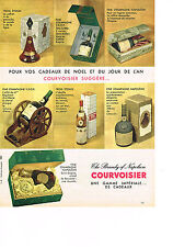PUBLICITE ADVERTISING  1960   COURVOISIER    the brandy of  NAPOLEON